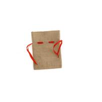 Торба за декорация зебло червена връвчица 20X15CM